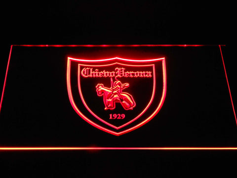Image of A.C. Chievo Verona LED Neon Sign - Red - SafeSpecial