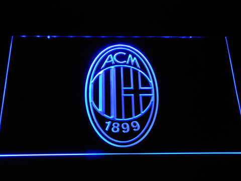 AC Milan Crest LED Neon Sign - Blue - SafeSpecial