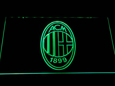 AC Milan Crest LED Neon Sign - Green - SafeSpecial
