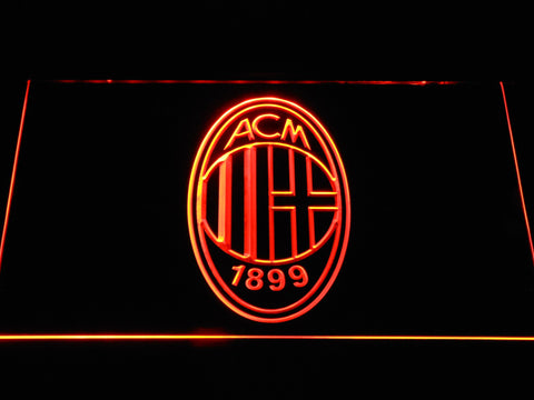 AC Milan Crest LED Neon Sign - Orange - SafeSpecial