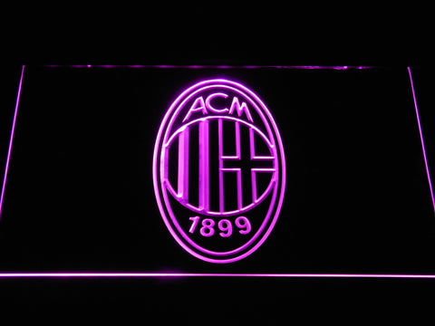 Image of AC Milan Crest LED Neon Sign - Purple - SafeSpecial