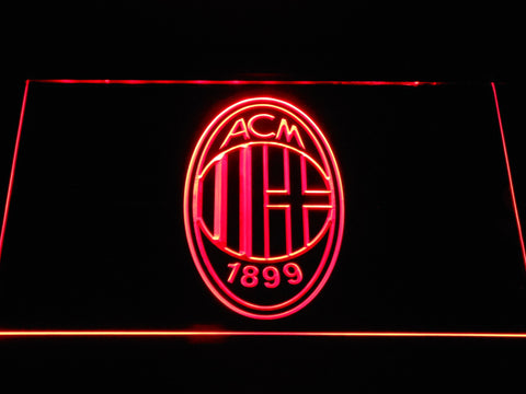 AC Milan Crest LED Neon Sign - Red - SafeSpecial