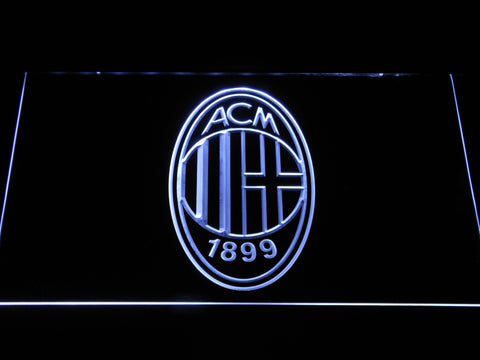 AC Milan Crest LED Neon Sign - White - SafeSpecial