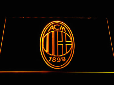 AC Milan Crest LED Neon Sign - Yellow - SafeSpecial