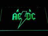 AC/DC Horns LED Neon Sign - Green - SafeSpecial
