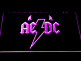 AC/DC Horns LED Neon Sign - Purple - SafeSpecial