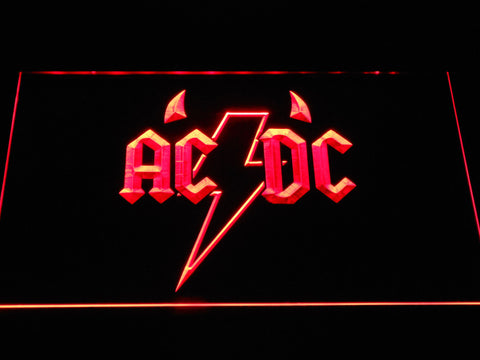 AC/DC Horns LED Neon Sign - Red - SafeSpecial