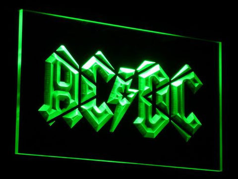 Image of AC/DC LED Neon Sign - Green - SafeSpecial