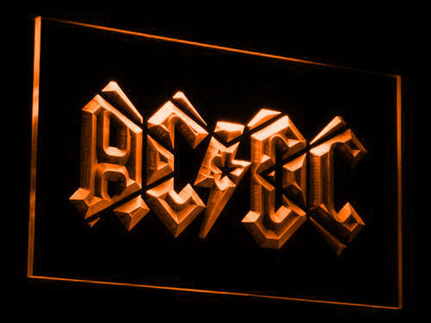 Image of AC/DC LED Neon Sign - Orange - SafeSpecial