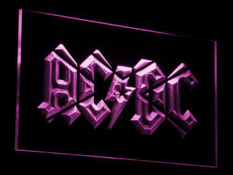 Image of AC/DC LED Neon Sign - Purple - SafeSpecial