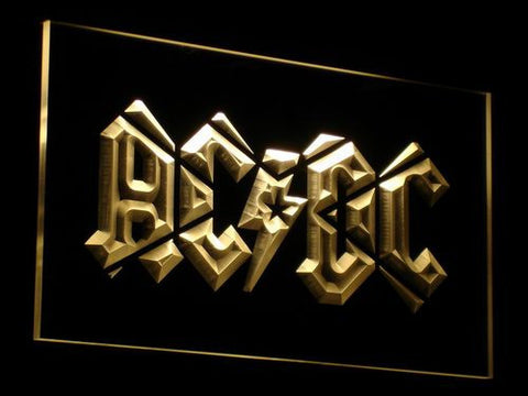 Image of AC/DC LED Neon Sign - Yellow - SafeSpecial