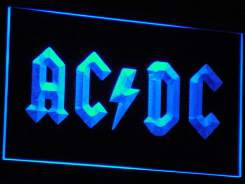 Image of AC/DC Let There Be Rock LED Neon Sign - Blue - SafeSpecial