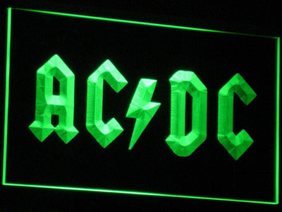 AC/DC Let There Be Rock LED Neon Sign - Green - SafeSpecial