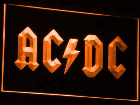 Image of AC/DC Let There Be Rock LED Neon Sign - Orange - SafeSpecial
