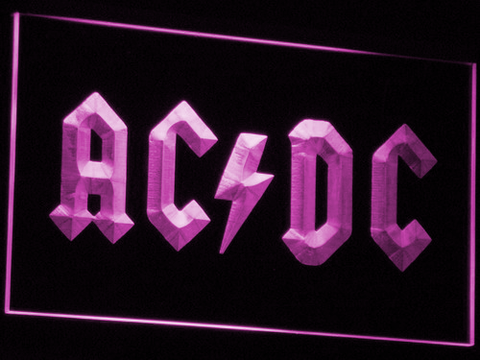 Image of AC/DC Let There Be Rock LED Neon Sign - Purple - SafeSpecial