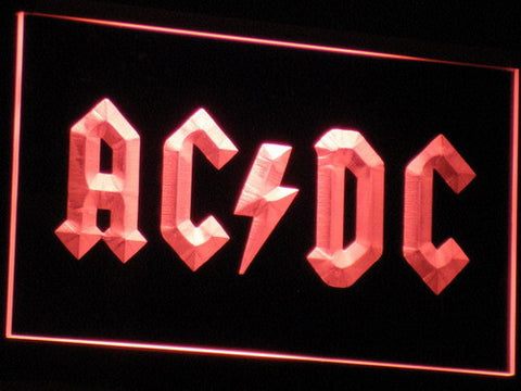 Image of AC/DC Let There Be Rock LED Neon Sign - Red - SafeSpecial