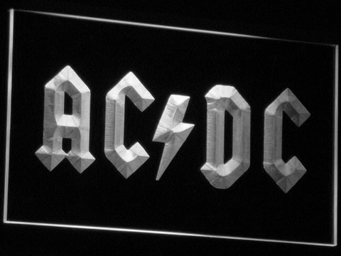 Image of AC/DC Let There Be Rock LED Neon Sign - White - SafeSpecial