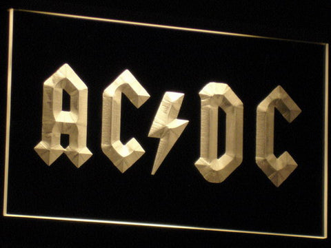 Image of AC/DC Let There Be Rock LED Neon Sign - Yellow - SafeSpecial