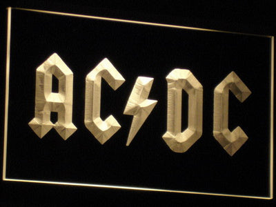 AC/DC Let There Be Rock LED Neon Sign - Yellow - SafeSpecial