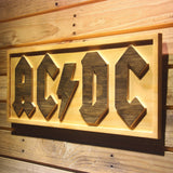 AC/DC Let There Be Rock Wooden Sign - - SafeSpecial