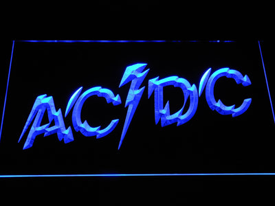 AC/DC Powerage LED Neon Sign - Blue - SafeSpecial