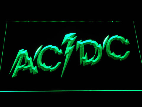 Image of AC/DC Powerage LED Neon Sign - Green - SafeSpecial