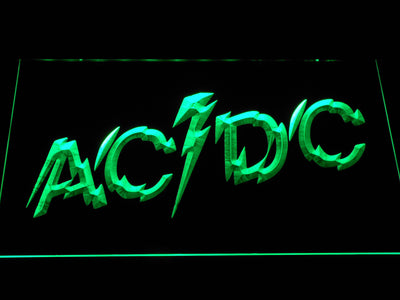 AC/DC Powerage LED Neon Sign - Green - SafeSpecial