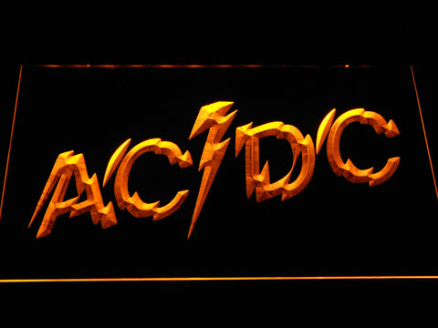 Image of AC/DC Powerage LED Neon Sign - Orange - SafeSpecial