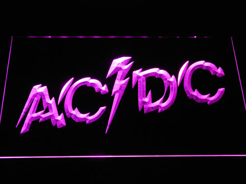Image of AC/DC Powerage LED Neon Sign - Purple - SafeSpecial