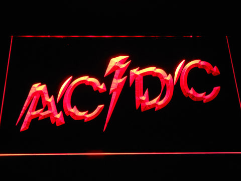 Image of AC/DC Powerage LED Neon Sign - Red - SafeSpecial