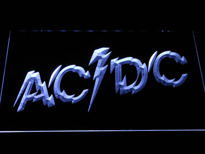 AC/DC Powerage LED Neon Sign - White - SafeSpecial