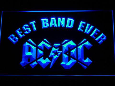 AC/DC Star Best Band Ever LED Neon Sign - Blue - SafeSpecial