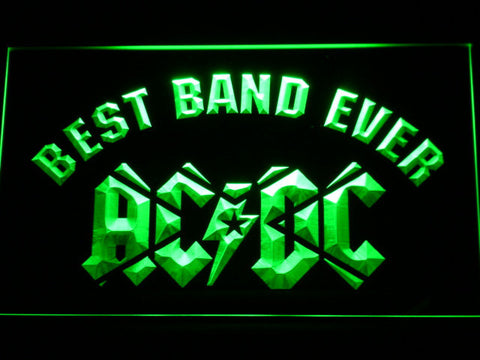 AC/DC Star Best Band Ever LED Neon Sign - Green - SafeSpecial