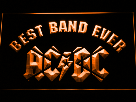 Image of AC/DC Star Best Band Ever LED Neon Sign - Orange - SafeSpecial