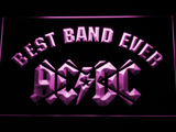 AC/DC Star Best Band Ever LED Neon Sign - Purple - SafeSpecial