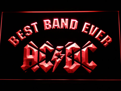 AC/DC Star Best Band Ever LED Neon Sign - Red - SafeSpecial