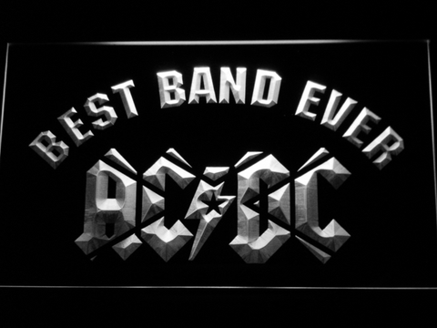 AC/DC Star Best Band Ever LED Neon Sign - White - SafeSpecial