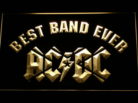 AC/DC Star Best Band Ever LED Neon Sign - Yellow - SafeSpecial