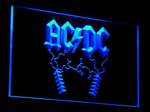 AC/DC Thunderstruck LED Neon Sign - Blue - SafeSpecial