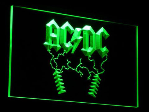 AC/DC Thunderstruck LED Neon Sign - Green - SafeSpecial