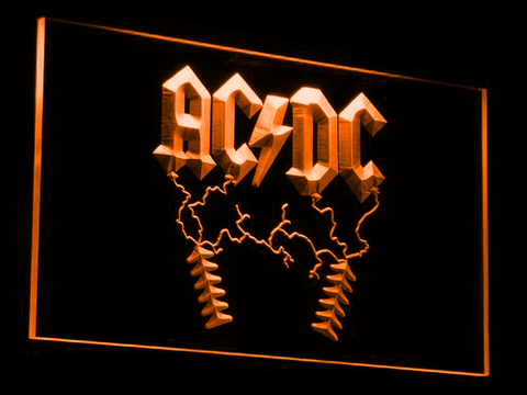 AC/DC Thunderstruck LED Neon Sign - Orange - SafeSpecial