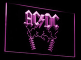 AC/DC Thunderstruck LED Neon Sign - Purple - SafeSpecial