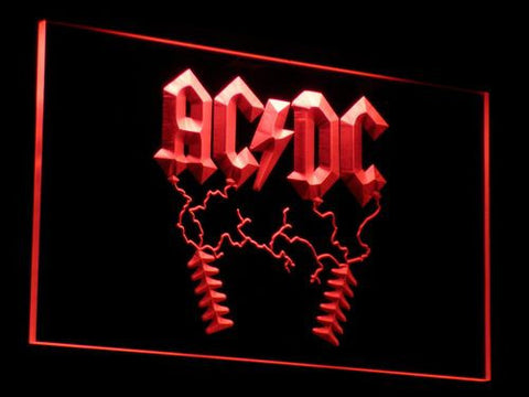 AC/DC Thunderstruck LED Neon Sign - Red - SafeSpecial
