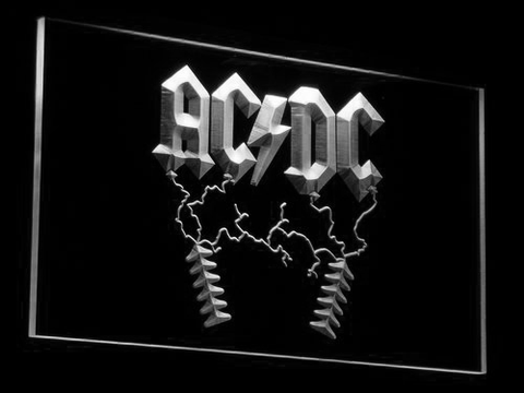 AC/DC Thunderstruck LED Neon Sign - White - SafeSpecial