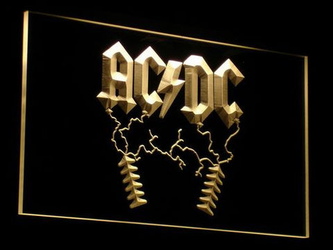 AC/DC Thunderstruck LED Neon Sign - Yellow - SafeSpecial
