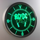 AC/DC Thunderstruck LED Neon Wall Clock - Green - SafeSpecial