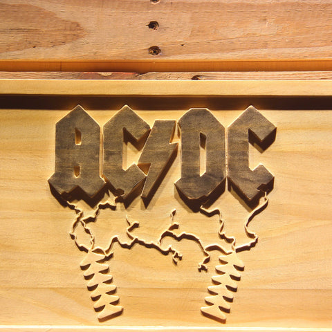 AC/DC Thunderstruck Wooden Sign - - SafeSpecial