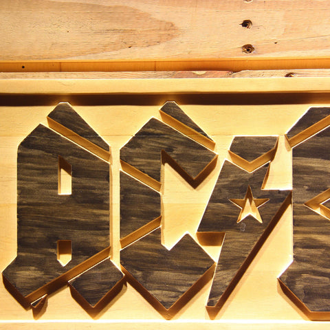 AC/DC Wooden Sign - - SafeSpecial