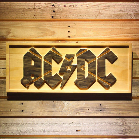 AC/DC Wooden Sign - Small - SafeSpecial