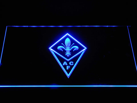 Image of ACF Fiorentina LED Neon Sign - Blue - SafeSpecial